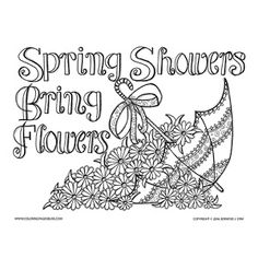 15 Best Umbrella Coloring Images Embroidery Patterns Embroidery