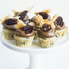 Mini Chocolate Pecan Pie Cupcakes