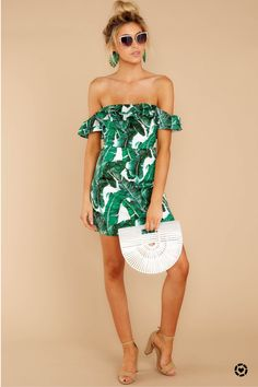 Shop Your Screenshots™ with LIKEtoKNOW.it, a shopping discovery app that allows you to instantly shop your favorite influencer pics across social media and the mobile web. Off The Shoulder, Shoulder Dress, Palm Print, Princess Seam, Playsuit, Thighs, Strapless Dress, Stylists, Rompers