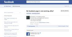 Facebook Not Working