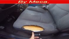 How to fix a torn car seat and repair the foam English audio. Car Upholstery Repair, Car Interior Upholstery, Boat Upholstery, Automotive Upholstery, Car Repair, Reupholster Car Seats, Car Fabric, Car Washer, Leather Car Seats
