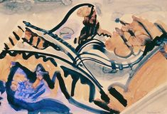 Bild:  August Babberger - Landschaft William Turner, Gouache, Paul Gauguin, Gustav Klimt, Claude Monet, Rembrandt, Pablo Picasso, Vincent Van Gogh, Arabic Calligraphy