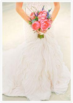 love this dress. pink peonies.