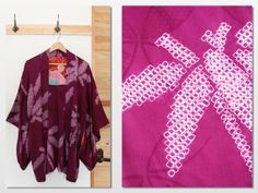 Japanese vintage purple shibori kimono jacket haori by CJSTonbo, $60.00