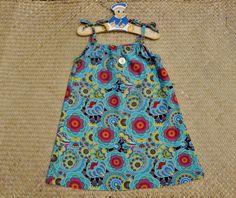 Robe à bretelles fleurie, tissu artisanal, taille 6 ans : Mode filles par…