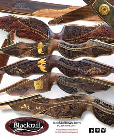 Blacktail Bows carved recurve bows