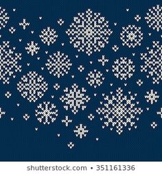 Winter Holiday Seamless Knitted Pattern with Snowflakes Fair Isle Knitting Patterns, Knitting Paterns, Christmas Knitting Patterns, Knitting Charts, Weaving Patterns, Knitting Stitches, Christmas Charts, Christmas Stocking Pattern, Cross Stitch Christmas Ornaments