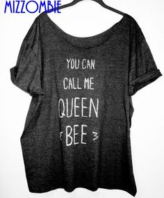 Lorde inspired   you can call me QUEEN BEE  shirt loose fit off the shoulder regular and plus sizes available