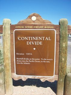 The Continental Divide, somewhere along Route 66 in New Mexico.