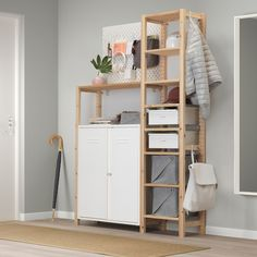 IVAR 2 sections/shelves/cabinet, pine, white - IKEA Ikea Storage Cabinets, Drawer Rails, Best Ikea, Cabinet Doors, White Cabinet, Adjustable Shelving, Cleaning Wipes, Drawers, Windows