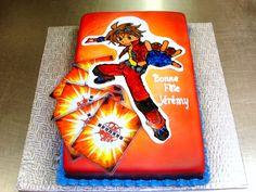 Handpainted Bakugan cake 2 by ~buttercreamfantasies on deviantART