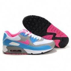 wholesale dealer 5349b 55fed Womens Nike Air Max 90 Trainers Blue Grey White Pink   OlukaiWomensshoesReview New
