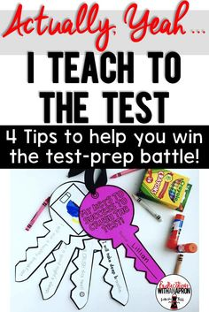 """""""I truly believe that if we are a little more intentional about prepping our students in meaningful ways, our students will see success during test-taking season."""""""