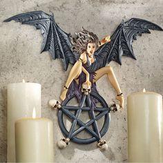 Temptress Traci Plaque Pentagram Wall Décor