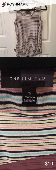 The limited striped tank top The limited striped tank top. Good condition The Limited Tops