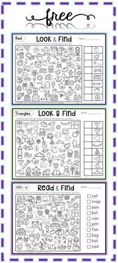 Free Hidden Picture Activities - Mrs. Thompson's Treasures