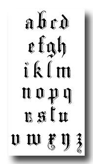 101 Best Gothic Alphabet Images On Pinterest