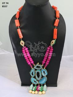 Buy beautiful necklace with pink color
