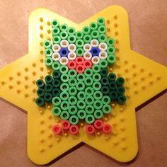 Owl hama beads by frufarai