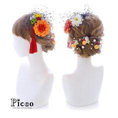 Gallery 570 . 【 成人式 #髪飾り 】 . #Picco #オーダーメイド髪飾り #振袖 #成人式 . 鮮やかなオレンジと小ぶりホワイトのダリアをメインに、振袖柄からセレクトしたカラーのマムと小花で盛り付けて、チュールを纏った和モダンスタイル❤️ バックにはパールとベリー&小花を散りばめてアクセントを効かせました . . #ダリア #個性的 #和モダン #ハイカラ #成人式ヘア . デザイナー @mkmk1109 . . . #ヘッドパーツ #ヘッドドレス #花飾り #造花 #着物 #和装 #浴衣 #色打掛 #振袖 #成人式フォト #成人式前撮り #成人式準備 #おしゃれ #小紋 #和装髪型 #和装小物 #モダン #成人式小物 #cute #japanesestyle