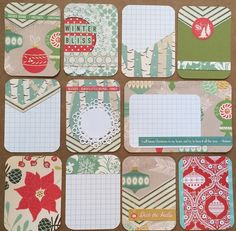 WINTER BLISS Handmade Project Life Cards