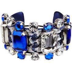 LA PERLA Summer Chain Bracelet ($605) ❤ liked on Polyvore featuring jewelry, bracelets, accessories, blue, bracelets/bangles, dark blue, intimates, blue bracelet, la perla and bracelet jewelry