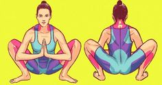 viraI: 8 Easy Moves That Can Make Your Body Feel Younger Fitness Tips, Fitness Quotes, Yoga Fitness, Yoga Position, Dog Poses, For Your Health, Easy Workouts, Workout Challenge, Planking