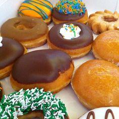 Variety Of Donuts @ Krispy Kreme Doughnuts
