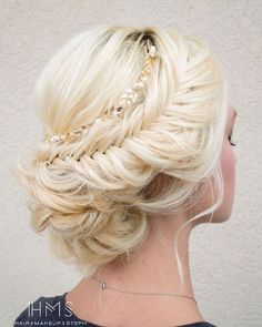 braided wedding hairstyle updo via Hair & Makeup by Steph / http://www.himisspuff.com/beautiful-wedding-updo-hairstyles/2/