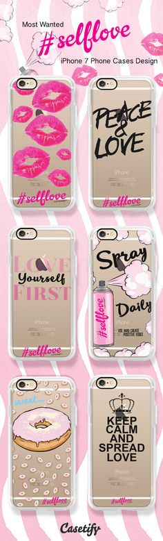 All time favorite Casetify x Glitter Magazine iPhone 7 cases - shop them all here > https://www.casetify.com/collections/glitter_self_love_campaign