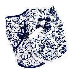 Beautiful China blue and Winter White 'Geisha Girl' Cat Vest