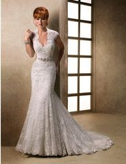 Maggie Sottero 'Carolina' size 12 new wedding dress front view on model