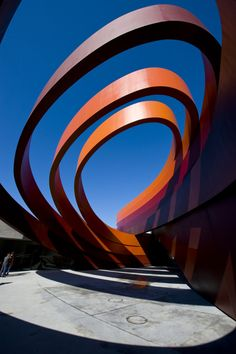 Bright-Museum-Holon-Exterior-Entryway-Idea-with-Layers-Painted-in-Orange-and-Maroon-to-Hit-Grey-Flooring-Part.jpg 681×1,024 pixels