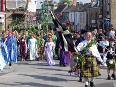 Flora Day dancers ~ Helston -The Hal-An-Tow