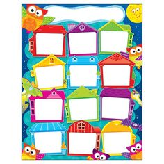 Year Round Houses Owl Stars Learning Chart By Trend Enterprises Owl Classroom, Classroom Themes, Classroom Displays, Class Decoration, School Decorations, Preschool Learning Activities, Preschool Crafts, Art Drawings For Kids, Art For Kids