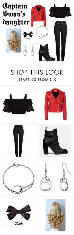 """""""Captain Swan's Daughter"""" by ohmygshsomeoneactually on Polyvore featuring IRO, Balmain, Coach, Shaun Leane and BERRICLE"""