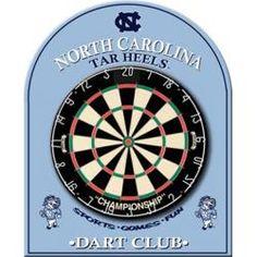 North Carolina Tarheels UNC Dart Board Back, Game Room Equipment