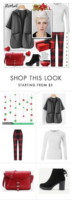 """""""Romwe"""" by natalyapril1976 ❤ liked on Polyvore featuring Burberry, LE3NO and shu uemura"""