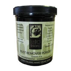Got surface rust on your natural stone? Remove it with Lustro Italiano rust remover.
