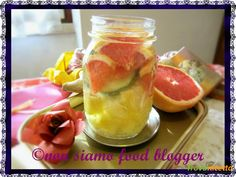 Acqua detox ananas e pompelmo rosa, anticellulite e brucia grassi  #ricette #food #recipes