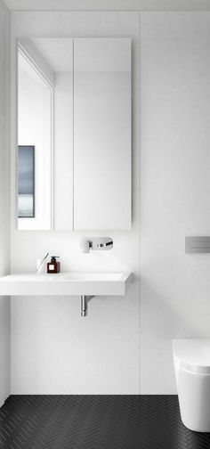 45 Easy Minimalist Bathroom You Will Definitely Want To Try - Page 8 of 48 Modern Bathroom Design, Bathroom Interior Design, Interior Design Living Room, Cheap Beach Decor, Cheap Home Decor, Minimalist Home Interior, Minimalist Bathroom, Laundry In Bathroom, Small Bathroom