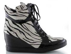 sneakersy baldowski d01059/snik/005 lak czarny zebra Wedges, Sneakers, Model, Shoes, Fashion, Tennis, Moda, Slippers, Zapatos