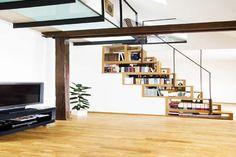 Designing Your Under Stairs Storage: Under Stair Storage With Television And Wooden Floor ~ Furniture Inspiration
