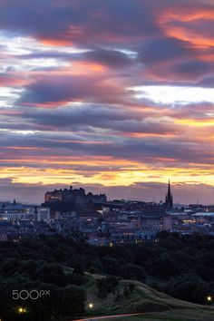 Edinburgh Castle at Sunset by Philip Cormack on 500px