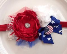 Stars and Stripes headband by JensBowdaciousBows on Etsy, $16.95