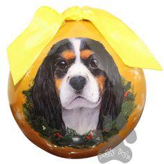 Cavalier King Charles Spaniel Tri Color Shatterproof Dog Christmas Ornament http://doggystylegifts.com/products/cavalier-king-charles-spaniel-tri-color-shatterproof-dog-christmas-ornament