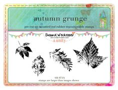 Autumn Grunge --  BRAND NEW by artist Susan Weckesser - Scrapbooking - Canvas Art - Mixed Media - SMASH books - EVERYTHING - enormous unique stamps at unity stamp company - available NOW!  http://www.unitystampco.com/shop/192-35-off-susan-weckesser.aspx