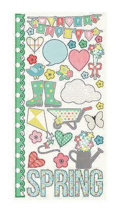 Simple Stories FRESH AIR Collection FUNDAMENTALS Cardstock, Stickers Spring  Discontinued and Hard to Find by SeptemberPlayground on Etsy