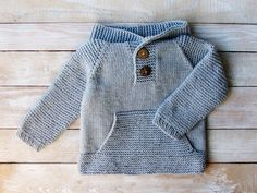 Baby Boy Clothes - Toddler Boys Gray Hooded Sweater Size 3T - Hand Knitted Grey Little Boys Hoodie by SilverMapleKnits on Etsy https://www.etsy.com/listing/261849694/baby-boy-clothes-toddler-boys-gray