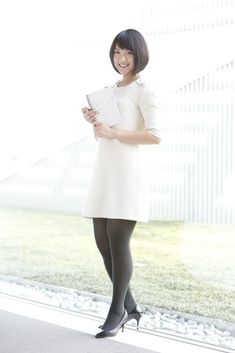 ❄️ 竹内由恵 ❄️ Pretty Asian, Beautiful Asian Women, Beautiful Legs, Dress With Stockings, Black Stockings, Stocking Tights, Cute Asian Girls, Black Tights, Sexy Legs